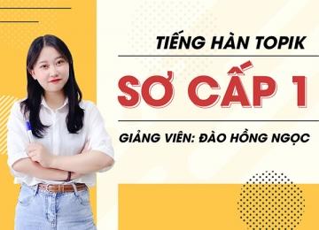 Tiếng Hàn Sơ Cấp TOPIK  1